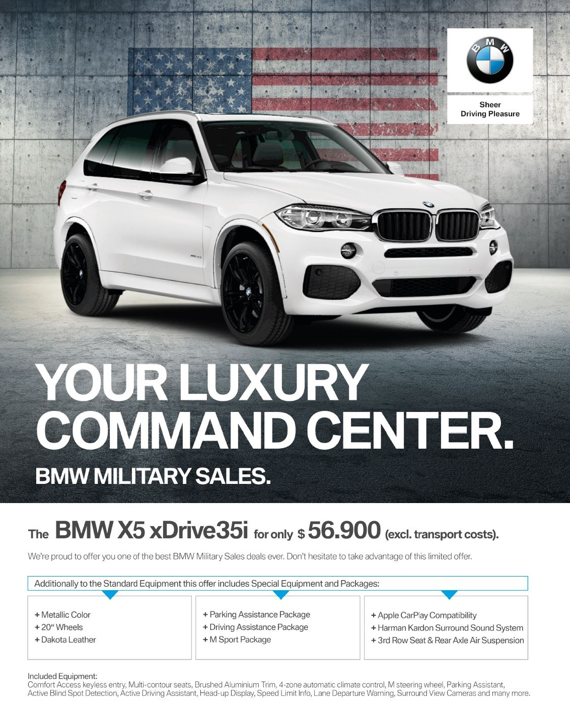 $15,525 OFF MSRP FOR 2018 BMW X5 XDrive35i